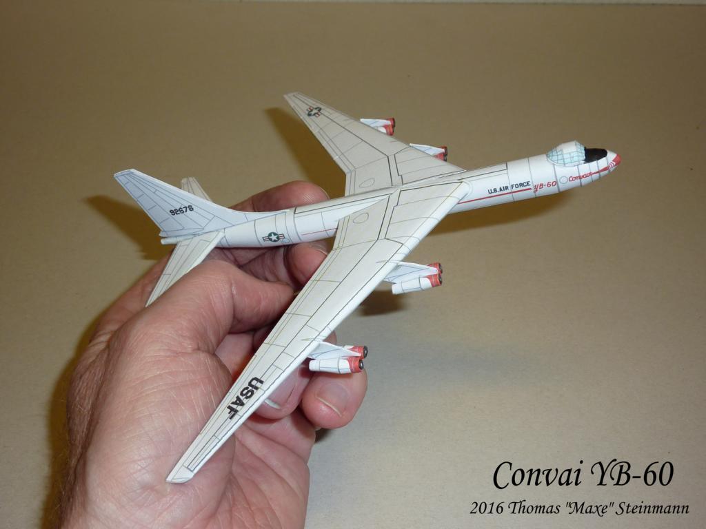 Plastik-Flugzeug Convair YB-60 ROT 1950erManurba Heinerle Domplast NEU