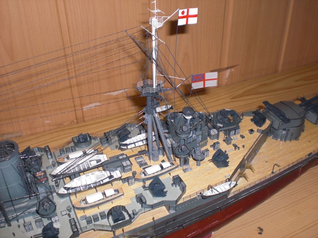 Battleship Hms Hood Paper Model 1 200 Huge 131cm Ebay